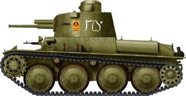 CKD TNHP, the Iranian version of the TNH series, 60 delivered in 1935-37. This one is part of the Imperial Guards. Notice the Imperial Crown, symbolizing the ruling family Páhlaví. These tanks were committed during the Anglo-Soviet invasion of Iran in 1941, but their fate is unclear.