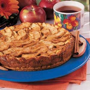 Bavarian Apple Torte: absolutely decadent dessert! This is always a hit at parties....