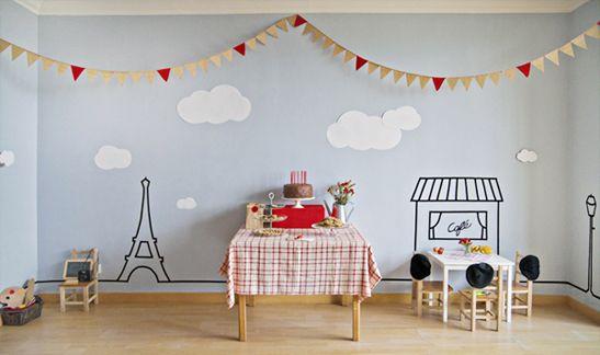 Une déco pour un anniversaire d'enfant - DIY chambre Paris