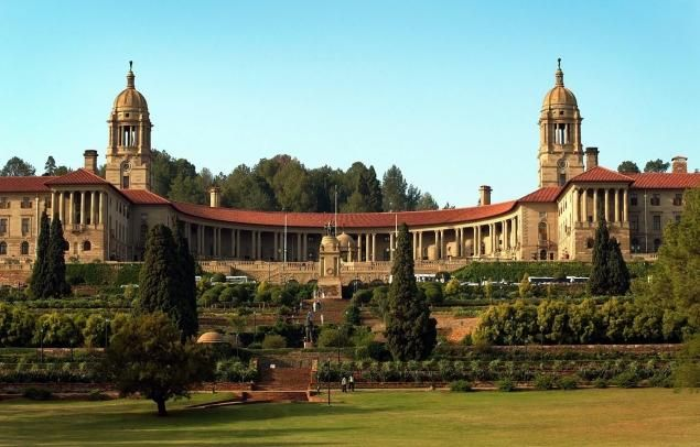 The Union Buildings in Pretoria, South Africa, where Nelson Mandela's body will lie in state for three days, while official memorial service...
