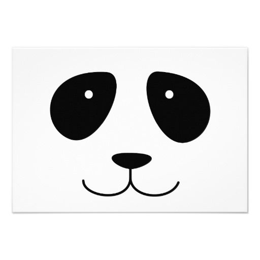 Panda Face Custom Invitation. doesn't seem to link to invitation, but could DIY with this one.