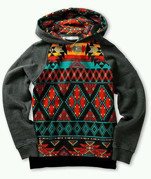 jacket sweater pattern aztec colorful hoodie winter jacket winter swag fall outfits