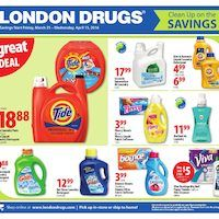 London Drugs - Clean Up on the Savings Flyer