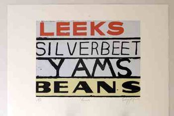 """Yams"" by Dick Frizzell. Edition of 60.Available for purchase, check it out at www.smythgalleries.co.nz"