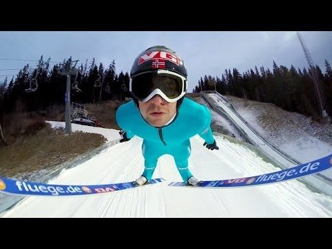 GoPro: Ski Flying With Anders Jacobsen  Published on Jan 8, 2014 Shot 100% on the HD HERO3+® camera from http://GoPro.com. Ski Jump training with Anders Jacobsen in Lillehammer, Norway.