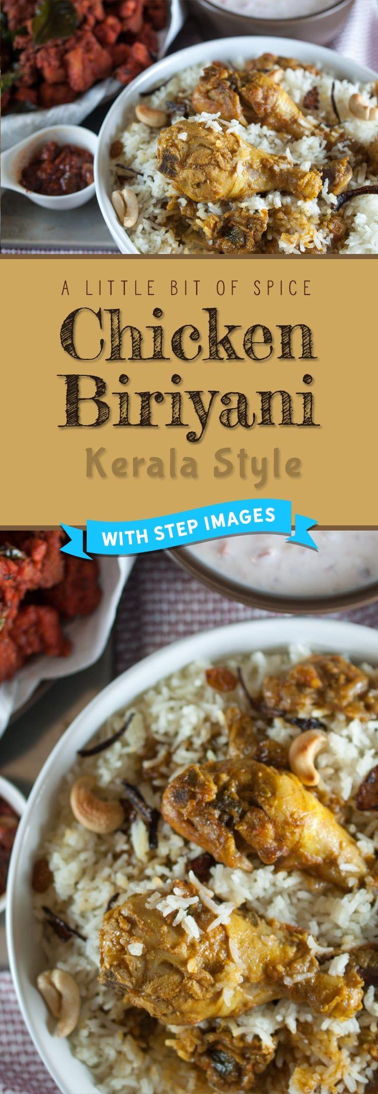 Chicken marinated and cooked in spices and layered with rice.An Indian one pot meal.An easy, quick, tasty and delicious Kerala chicken biriyani recipe.