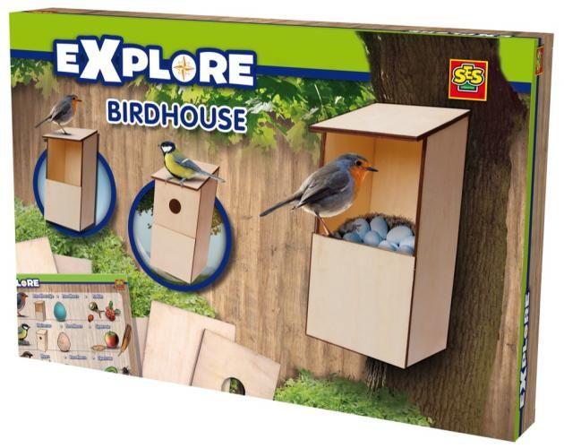 DOMEK DLA PTAKÓW drewniany - zabawki kreatywne dla dziewczynek i dla chłopców