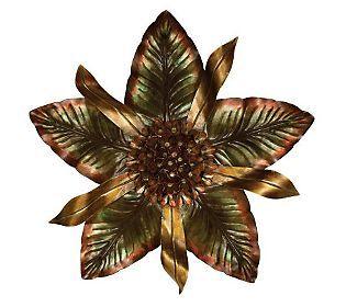large metal flower wall art | Metal Flower Wall Decor — QVC.com