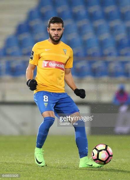 Estoril's midfielder Eduardo Teixeira from Brazil in action during the Primeira Liga match between GD Estoril Praia and Rio Ave FC at Estadio Antonio...