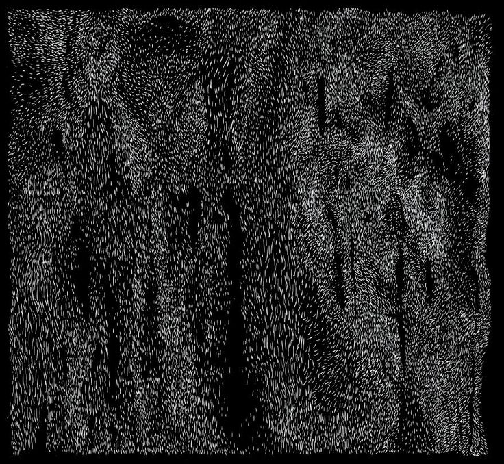 Black Fur lines by Sasha Tugolukova