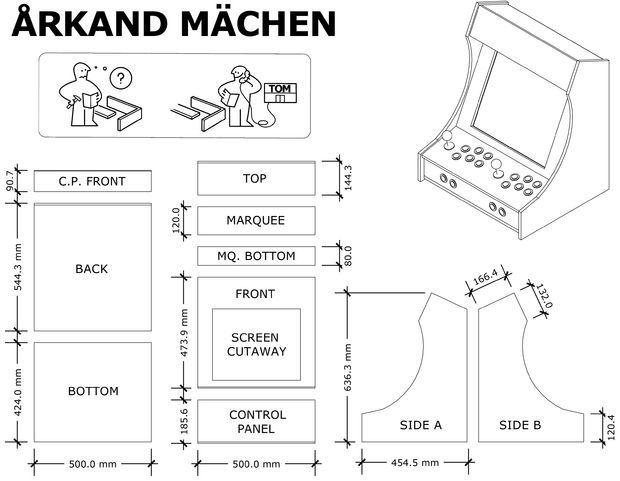 Unique Arcade Cabinet Plans Pdf