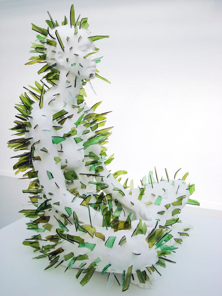 Kendell Geers - Master Mistress of my Passion (2010), jasmenite and broken glass, 87 x 60 x 75 cm | kendellgeers.com