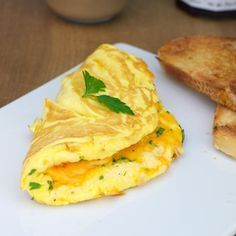 Fluffy Cheese Omelette. This was quick, easy, and good! I'll be using this recipe again. :]