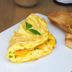 Fluffy Cheese Omelette Breakfast