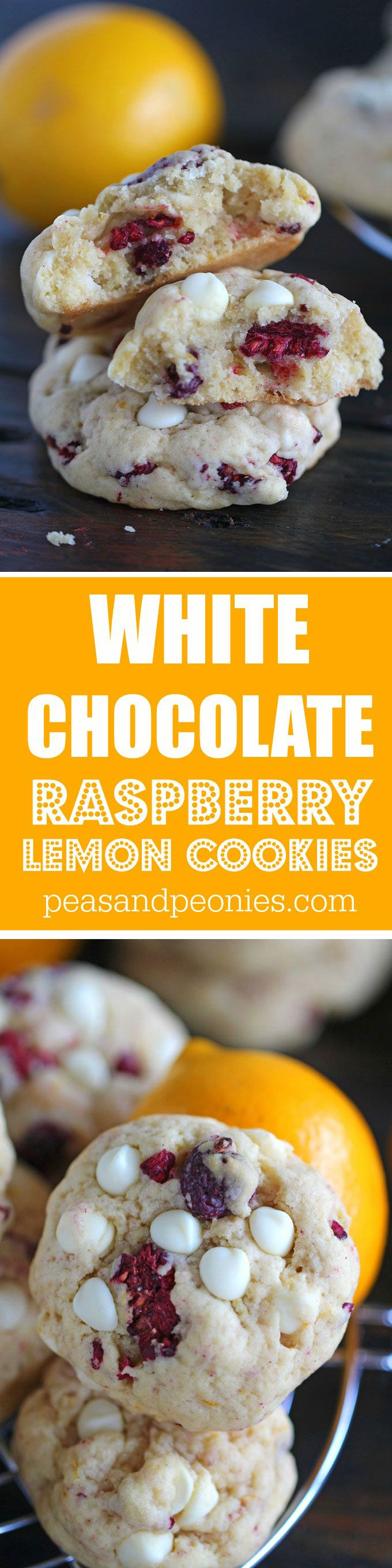 Lemon Raspberry Cookies are so tender and buttery that they melt in your mouth. Loaded with white chocolate chips, lemon zest and sweet raspberries.