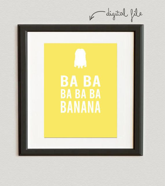 DIGITAL FILE // Ba ba ba ba ba banana- Minions- Despicable Me 2- Lemon color on Etsy, $6.00