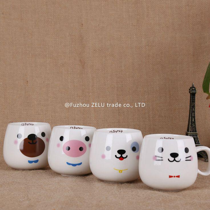 Симпатичные Выражение Животных Керамические Кружки Кубок Мода Молоко Чашка Кофейная Чашка Чая Кружка Пива Чашки День Рождения Рождественский Подарок Home Decor 7Z(China (Mainland))