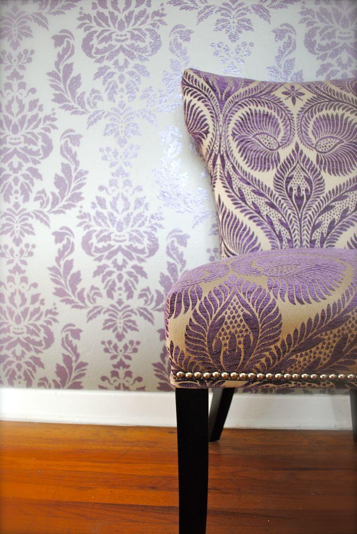 Orange damask chair - Damask And Pattern Success