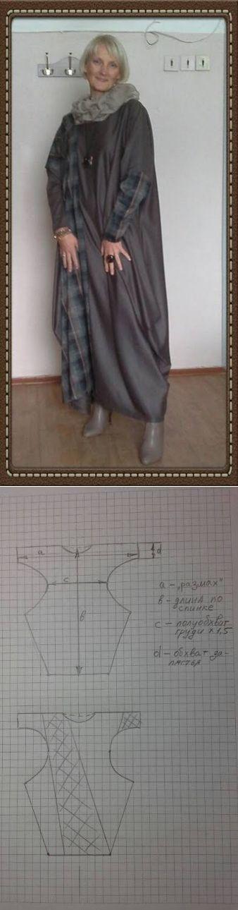 Платье(бохо) с выкройкой от Ирины Сухановой. (Ник Irisu)