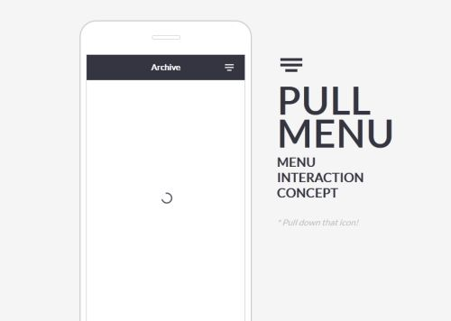 Pull Down Menu Interaction Demo: Here