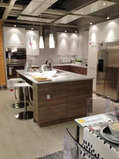 use this for master bath look at floor countertop and cabinet combo ikea kitchen showroom