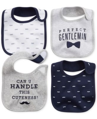 Carter's Baby Boys' 4-Pack Gentlemanly Bibs                                                                                                                                                                                 More