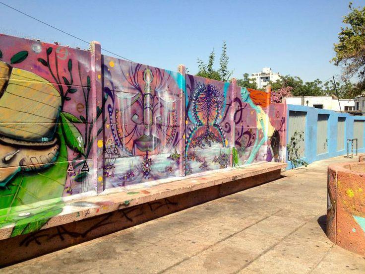 Street art in Santiago, Chile.