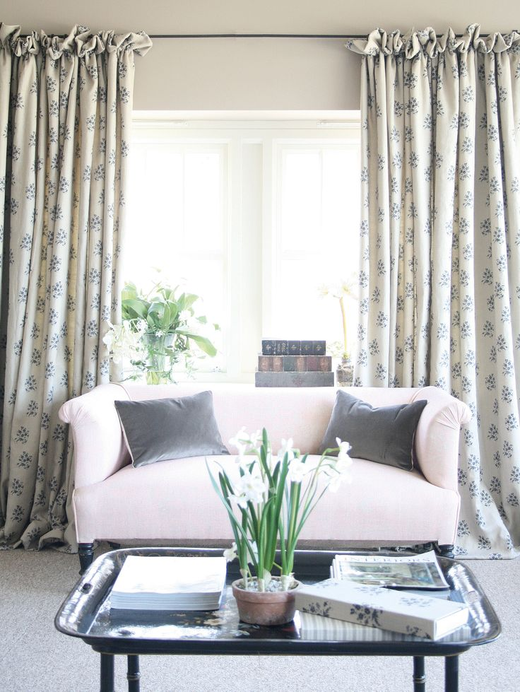 """Frill Top  A really popular one with our customers! Simply achieved by using a basic 1"""" curtain tape with two to three inches above for the frill."""
