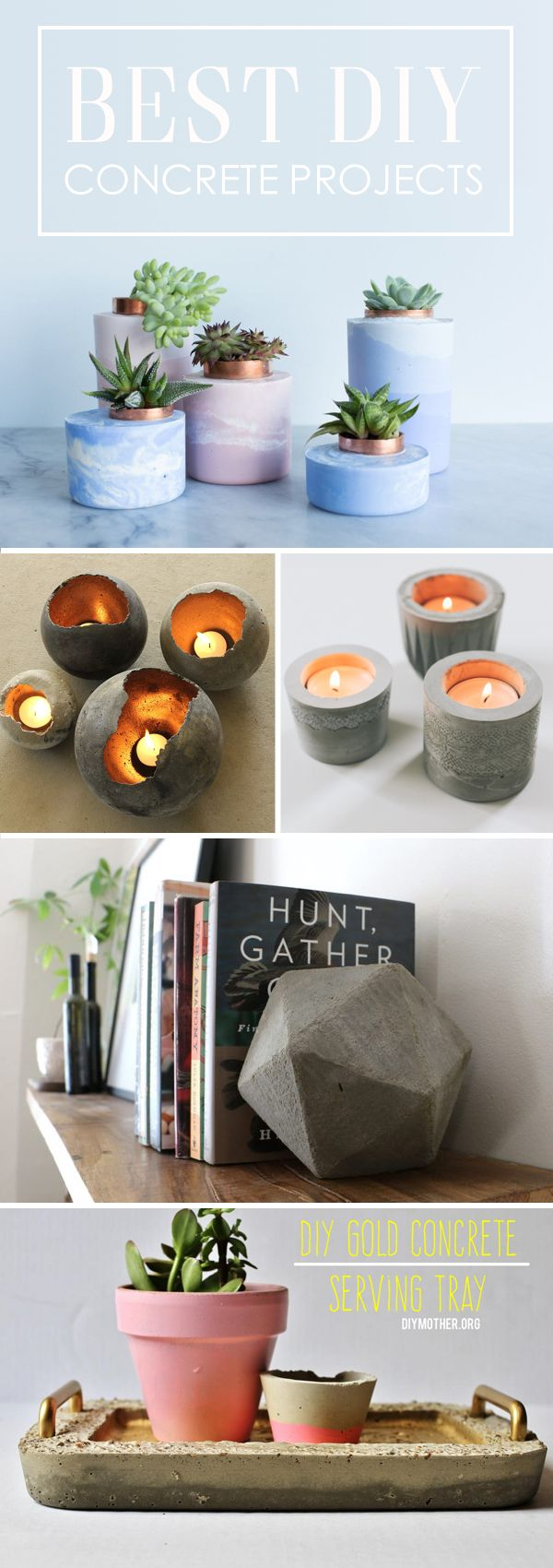 27 Gorgeous DIY Concrete Projects Thatu0027ll Add
