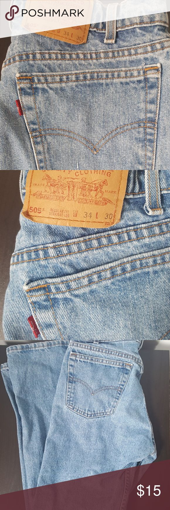 LEVIS 505 Jeans RED TAB Reg Straight Leg W34 X L30 Pre-Owned in excellent condition 505's W 34 L 30  Red Tab  Regular Fit Straight Leg Levi's Jeans Straight