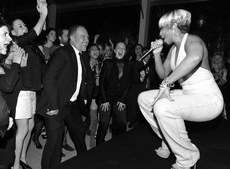 2011: Hip Hip Hooray! Michael Kors, seen here with Mary J. Blige, celebrates the 30th anniversary of his label with mega parties in New York and Paris.: Paris, Mega Parties, Micheal Kors, 2011 Michael Kors, Style Icons, 30Th Anniversaries, Favorite Faces, Peeps