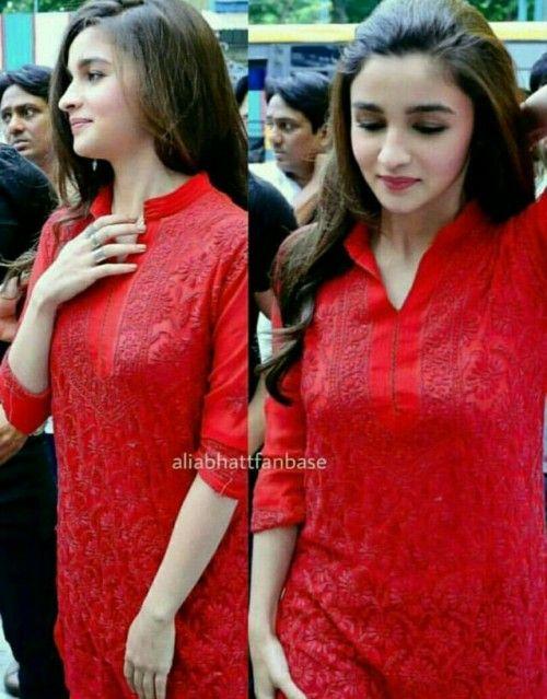 Want Alia Bhatt's red kurta