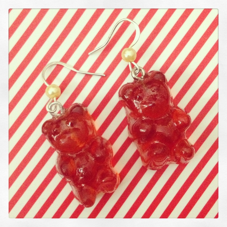 Jelly Bear earrings :3 gnam!