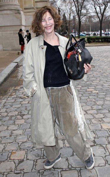 Jane Birkin - Jade Jagger and Others at Paris Fashion Week
