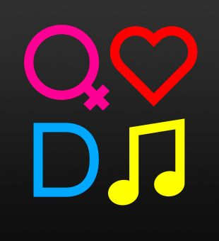 'Girls Love DJs' logo design 2#2
