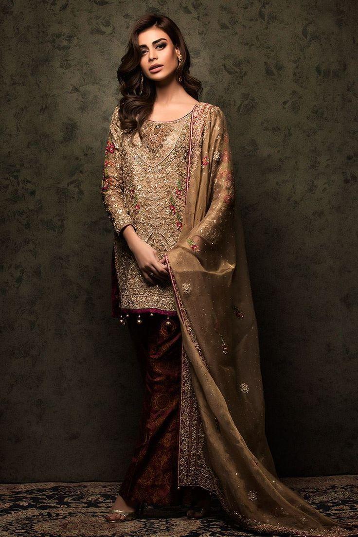 Graceful and classy pakistani wedding dresses by aisha