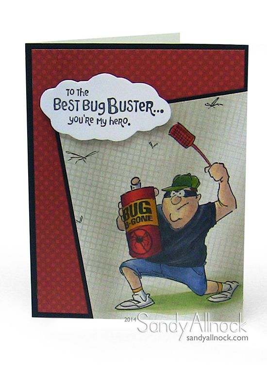 Ai Heroes Bug Buster set- Art Impressions Handmade masculine card.  Great for Father's Day, Birthday etc.