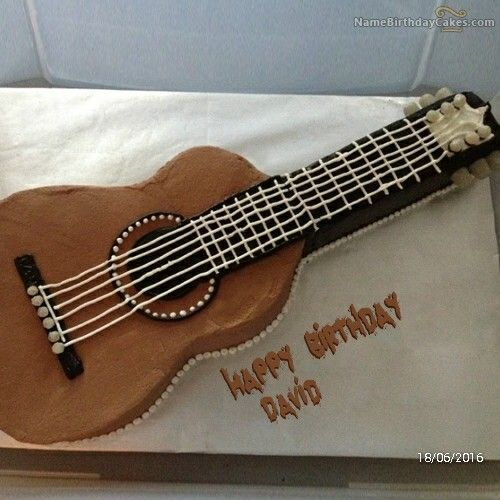 Guitar Cake Images With Name : Guitar cake (David) birthday cakes Pinterest David ...