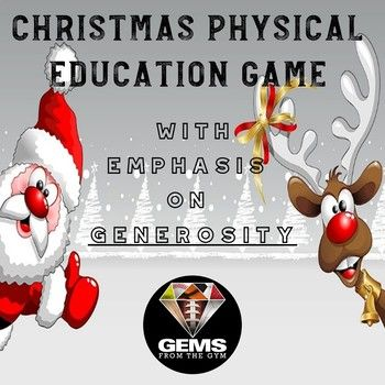 You will receive a super fun Christmas Game to enjoy the holiday season with your students! The game covers at least one SHAPE America standard. Students will have a blast as they play the game and master the teamwork skills featured! Activities designed to develop teamwork and the character trait of generosity  Physical Education Games / Physical Education / Games / Warm-up Games / Elementary / PE / Skills / Posters / Bulletin Boards / Unity / Lesson Plans / Holiday / Christmas