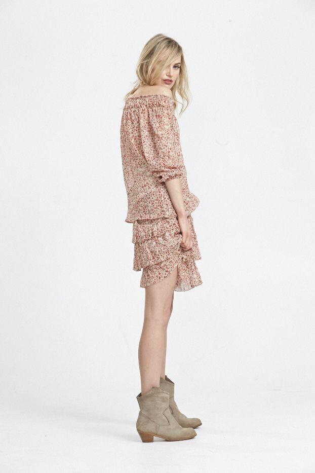 Boho Luxe.  Lotus Demi Sleeve and Ruffle & Hustle Silk Skirt. www.hideseekers.com