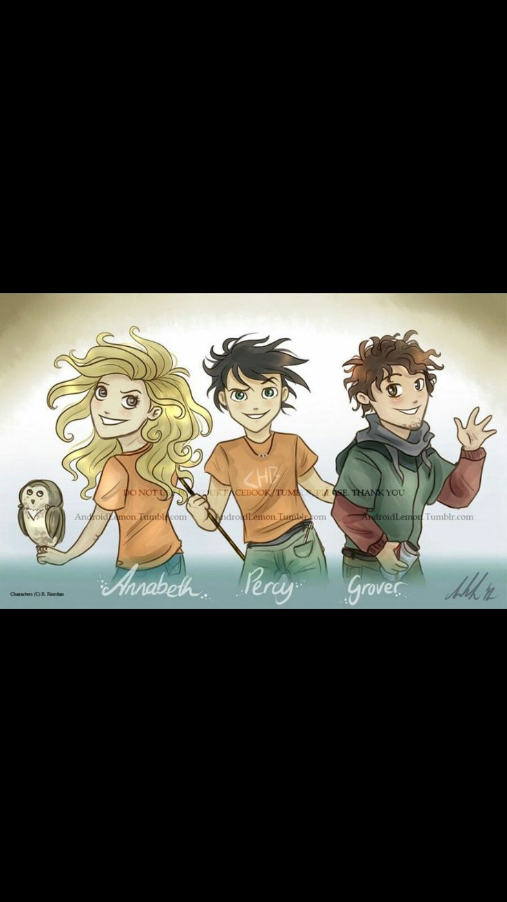 Percy Jackson, Annabeth Chase and Grover Underwood