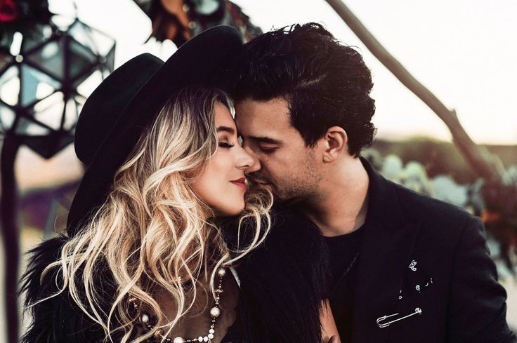 Mark Ballas + BC Jean's moody, dark + bohemian-inspired Engagement Session // celebrity engagement session