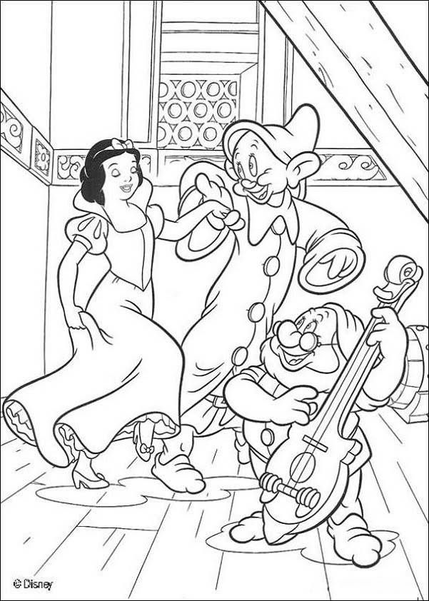 Disney coloring pages - Snow White