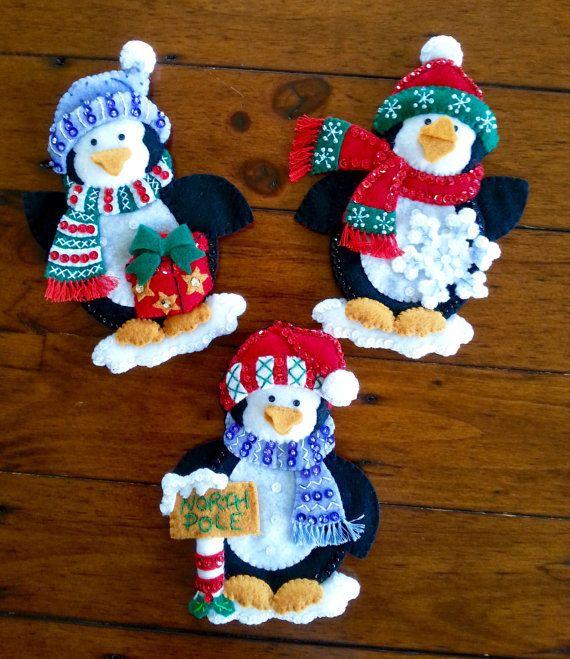 Bucilla Navidad cubiertos porta Set de 6  terminado | Etsy