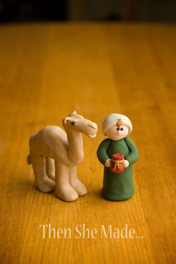 DIY clay Nativity - Camel