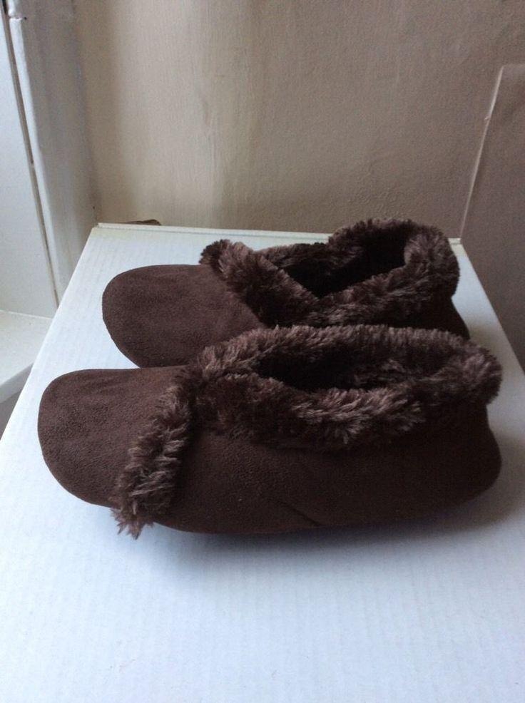 M&S Ladies slippers faux fur UK5, EU38 BNWT