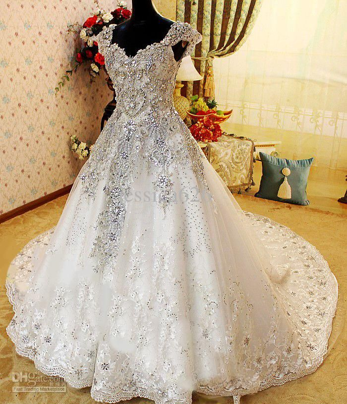 17 Best images about Wedding gowns on Pinterest | Crystal wedding ...