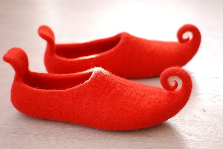 CUSTOM Felted wool slippers FAIRY