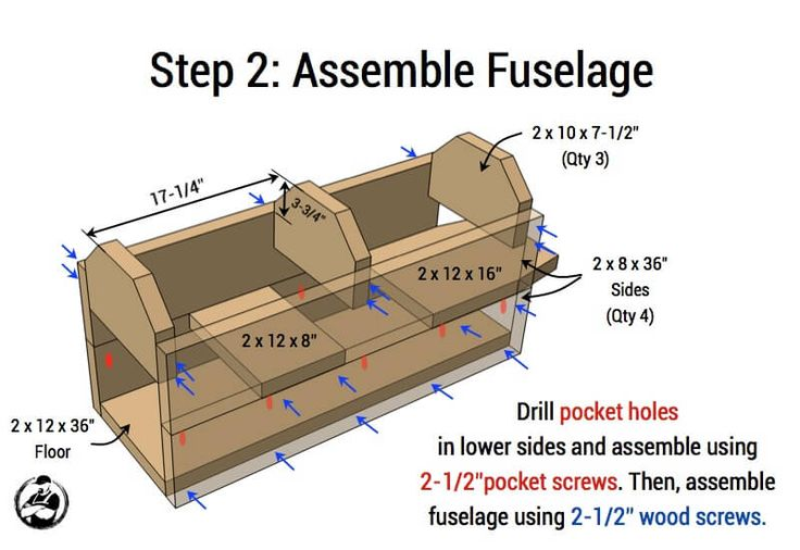 Airplane Play Structure Plans - Step 2