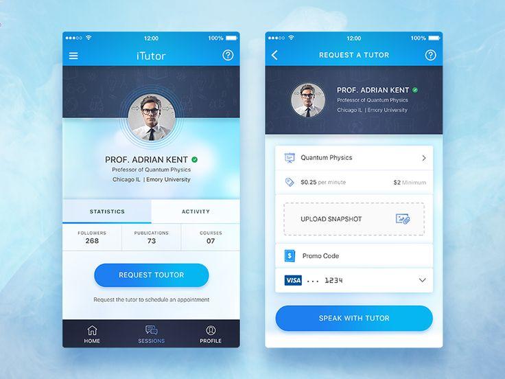Conceptual Tutor App UI